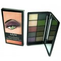NYX Eyeshadow Palette 10 Colour Beautiful Green  Eyes